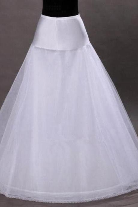 High Quality For A Line Dress 1-hoop 2-layer Tulle Wedding Bridal Petticoat Underskirt