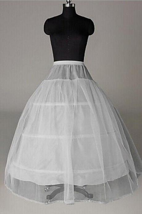 Petticoat for Ball Gown Dress Free Size Long Petticoat Skirt 3 Hoops With Tulle Crinoline Petticoat Underskirt
