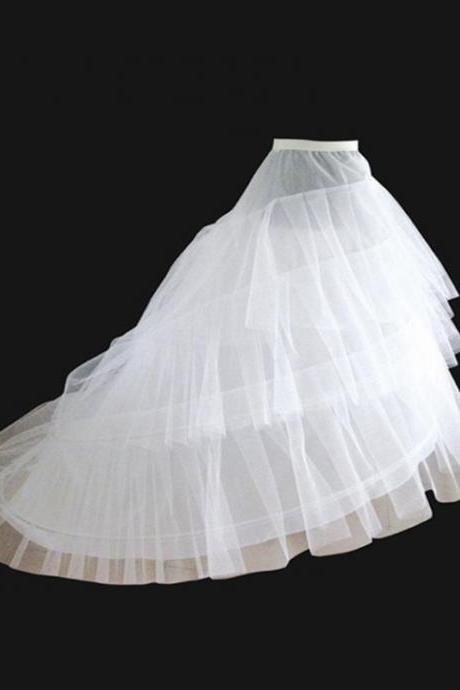 Petticoat For Long Train Wedding Dress Crinoline Underskirt for A-line Wedding Dress 3 Layers Wedding Accessoires