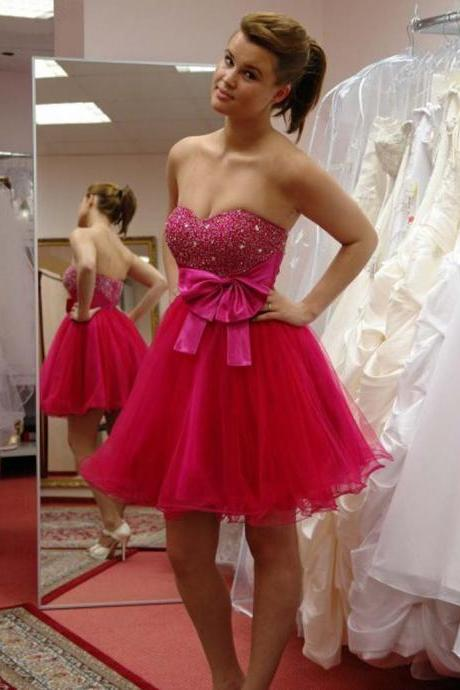 Homecoming Dress, Sweetheart Homecoming Dress, Short Homecoming Dress, Beading Homecoming Dress, Mini Homecoming Dress