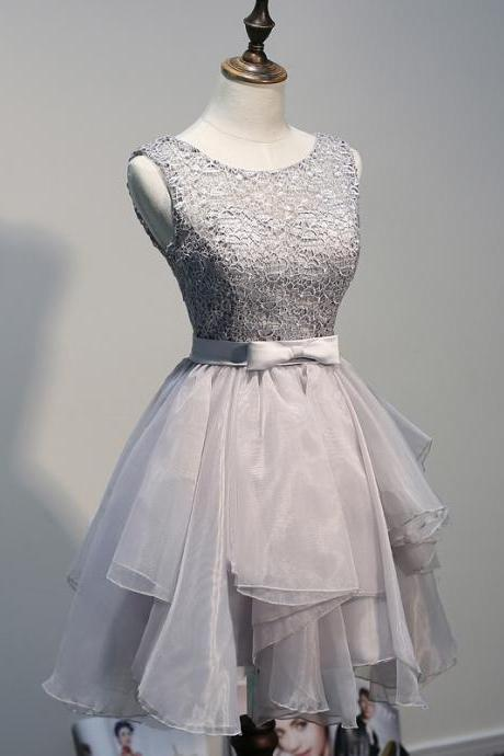 Charming Homecoming Dress,Organza Homecoming Dress,Lace Homecoming Dress,Noble Homecoming Dress