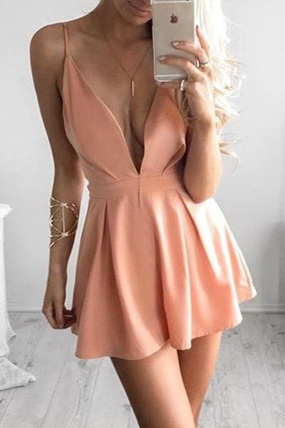 Chiffon Homecoming Dress,Homecoming Dress,Short Prom Dress,Country Homecoming Gowns,Sweet 16 Dress,Simple Homecoming Dress,Casual Parties Gowns