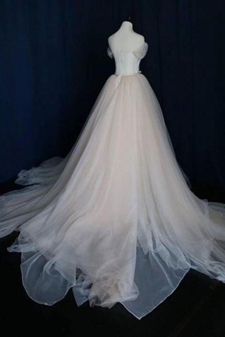 Ever Pretty Wedding Dress, Sexy Off the Shoulder Cap Sleeve Wedding Dresses Bridal Gowns Lace up Plus Size