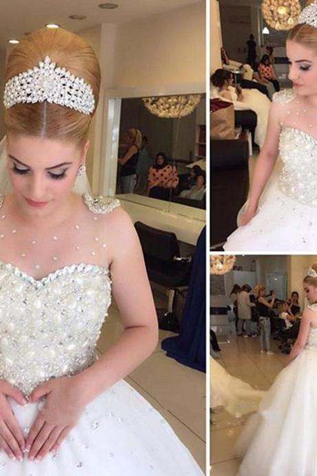 Wedding Dress,Civil Wedding Dress,Sparkle Wedding Dress,Luxury Wedding Dress,Unique Wedding Dress,Gorgeous Wedding Dress,Crystal Wedding Dress,Beaded Wedding Dress,Pearls Wedding Dress,A-Line Wedding Dress,Halloween Wedding Dress,Long Wedding Dress,Organza Wedding Dress