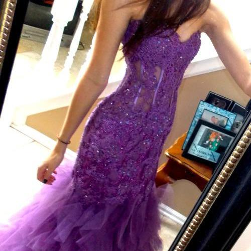 Newest Beading Appliques Prom Dresses, The Charming Evening Dresses, Prom Dresses, Sweetheart Real Made Prom Dresses