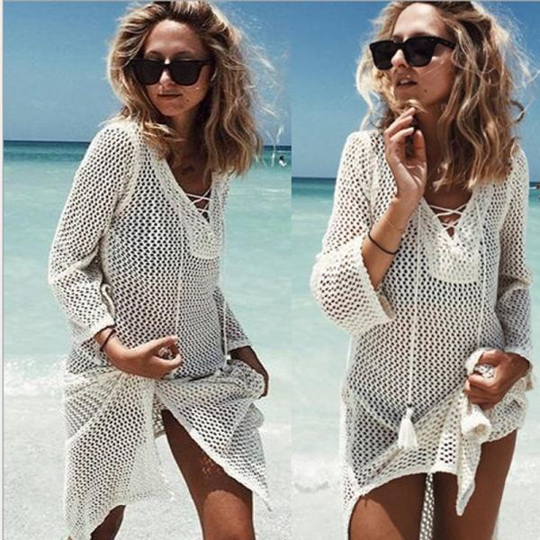 Beachwear Bikini Sexy Fishnet Coat